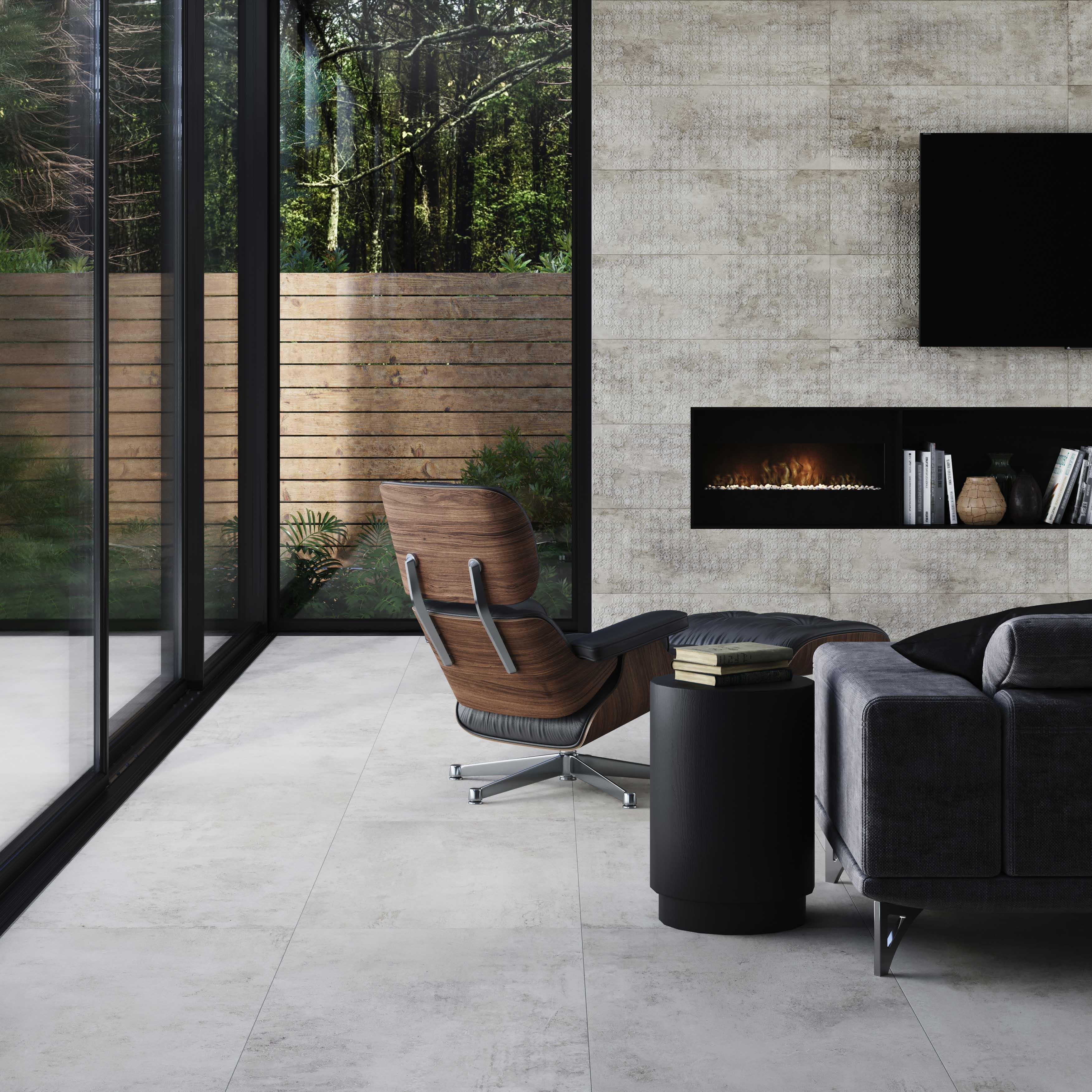 -MIDLAND SLIM GREY BLOSSOM 29,75x89,46 cm
